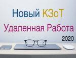 В КЗоТ внесут изменения о дистанционной и надомной работе